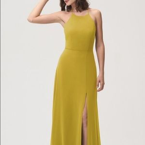 Jenny Yoo Kayla bridesmaid dress in Chartreuse